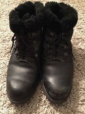 Hush Puppies Mens Black Ankle Boots Lace-ups, Size 6