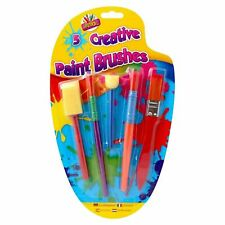 Paint Brushes Childrens Kids Creative Artist 5 Assorted Brushes Art and Crafts