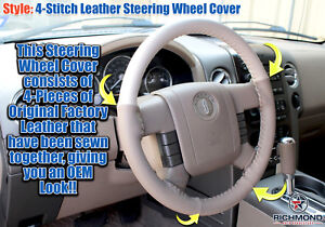 2006 Lincoln Mark LT Truck -Genuine Leather Steering Wheel Cover, 2-Tone Tan