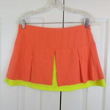 Lucky in Love Petal Power Layered Skirt Skort Shorts LARGE Orange Tennis Golf