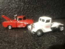 Ertl 1956 Chevy cameo pickup tow truck+ Feed Truck 1:43 O Scale VHT Rare  dieast