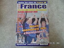 MAGAZINE NUMBER ONE FOOTBALL COUPE DU MONDE 1998 FRANCE CHAMPION DU MONDE  H23
