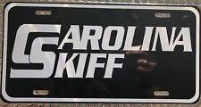 "6x12 Custom ""Carolina Skiff"" License Plate Aluminum Black w/white Auto Tag"