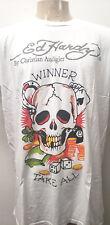 Ed hardy christian audigier t shirt skull winner white nwt 2XL men's made in usa