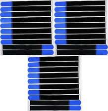 50x Klettkabelbinder 400 x 40 mm blau Kabelbinder Kabel Klettband Kabelklett Öse