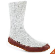 Acorn Ragg Wool Slipper Socks Mens 7.5 - 8.5 Womens 9.5- 10.5 Knit Gray Original