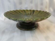 Vintage Holland Mold Ceramic Pedestal Cake Plate Stand