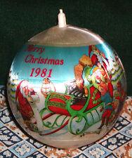 Rare! Vintage Ball 1981 Merry Christmas Angel Hair Ornament, (Mark Alvin)