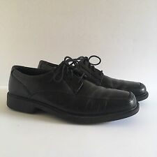 Clarks Bostonian Ipswich Mens Black Leather Dress Shoe Apron Toe Laced Oxford 8M