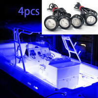 White LED Boat Lights Kit Waterproof Pod Bright LED Strips Marine Bowrider 8pc