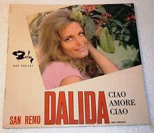 DALIDA - CIAO AMORE CIAO +3 7/45 EP PORTUGAL PS 1967 SINGS ITALIAN RARE