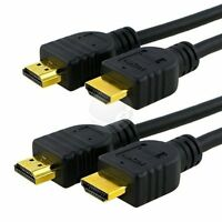 2 x PREMIUM HDMI CABLE 6FT For BLURAY 3D DVD PS3 HDTV XBOX LCD HD TV 1080P - New