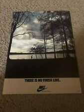 "Vintage 1978 NIKE RUNNING ""THERE IS NO FINISH LINE"" Poster Print Ad 1970s RARE"