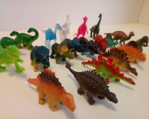 """Dinosaur Pretend Play Set - Small Dinosaurs 2"""" to 3"""" Figures Lot of 20 favors"""