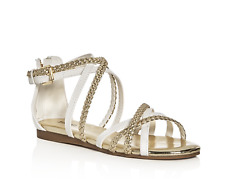 NIB  Girls Size 13 MICHAEL KORS Demi Ayla -888 White Gold Sandals Shoes