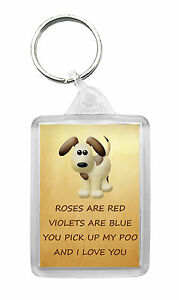 I LOVE YOU Keyring Birthday Valentines Christmas Fun Novelty Gift - FROM THE DOG