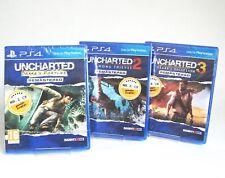 Uncharted 1, 2, 3 BUNDLE - Drakes erste Abenteuer  - Remastered - PS4 *nagelneu*
