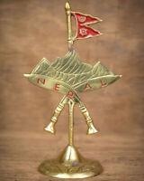 Handmade Nepalese Souvenir with Flag, Mountain and Khukuri Cross Table Decor