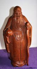 Holzfigur Chinesischer Mönch Edelholz (Mahagoni) H ca. 38 cm