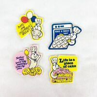Vintage 1991 Pillsbury Doughboy Magnet Set of 4 Plastic Bake Cake Oven Sweet