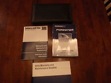 2001 Subaru Forester Owners Manaul Warranty Book Maintenance Book @ Case