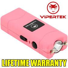 VIPERTEK PINK VTS-881 110 MV Mini Rechargeable LED Police Stun Gun + Taser Case