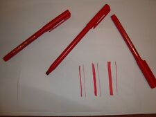 20 Red Calligraphy Writing Pens Asstd Sizes