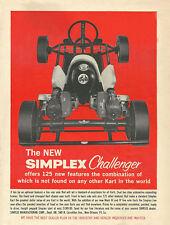 Vintage & Very Rare 1960 Simplex Challenger Go-Kart Ad