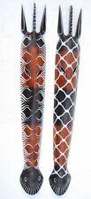 2 Zebra Wall Masks Wall Mask 2er-Set 100cm Wooden Masks