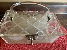 Charles Kahn Labeled Miami Vintage 1950's Lucite Glitter Purse Handbag
