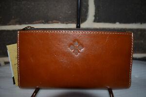 NWT Patricia Nash Selva Heritage Tan Veg  RFID leather wallet brown