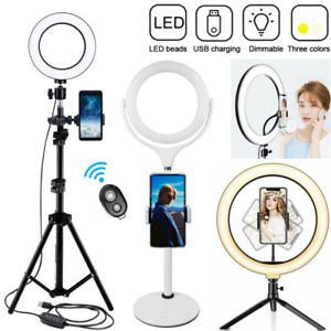 """12"""" 10"""" 8"""" 6"""" LED Dimmable Ring Light with Stand Phone Holder for Video Photo"""