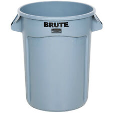Rubbermaid 2632 BRUTE 122L Round Container Gray Grey Rubbish Bin Trash Can