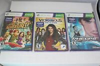 Microsoft Xbox 360 Games Lot Of 3 Michael Phelps, Victorious, Kinect Adventures