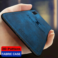 For Xiaomi Mi 9 SE 8 Lite Mi Play Hybrid Fabric Soft TPU Leather Back Case Cover