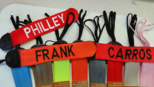 SET OF 3   GEAR TAGS  PERSONALIZED WITH YOUR NAME OR TEXT