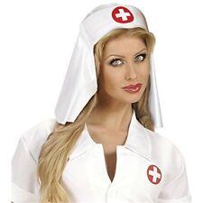 Adult's White Nurse Hat - Doctors Nurses Emergency Services Fancy Dress