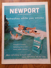 1963 Newport Cigarette Ad  3 Some  Swimming Boating Fun
