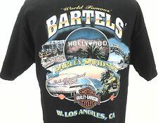 EUC Harley Davidson Bartels' Hollywood W. Los Angeles Black Large L Made in USA