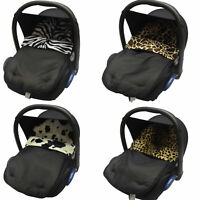 ANIMAL PRINT PADDED BABY  NEW CAR SEAT FOOTMUFF/COSY TOES. NEW!!