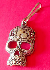 13 Sugar Skull Zipper Pull - biker punk rockabilly kulture tatto