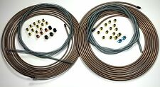 Copper Nickel Brake Line Kit. 25 ft of 1/4 and 3/16 Rolls w Fittings / Armor