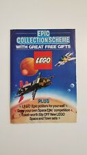 Lego UK Epic Collection Scheme Space and Town Posters A4 foldout (1988) Vintage