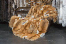 397 Canadian Red Fox Fur Blanket - Classic Style Genuine Fur Throw Real Fur