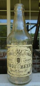 Frostie Old Fashion Root Beer You'll love it! Bottle Lyndonville Vermont  8""