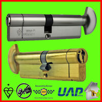 Anti Snap Locks TS007 3 Star 30mm Int 30mm Ext Brass Avocet ABS High Security Euro Cylinder Keyed Alike Pairs
