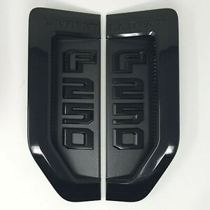 17 thru 20 Super Duty F-250 Lariat Sport Package Black Fender Emblems Pair of 2