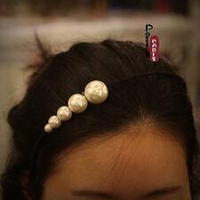 Epingle à Cheveux Cink Perle Blanche Noir Baroque Ancien Vintage Original