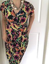 LEONA BY LEONA EDMISTON WOMENS DRESS FLORAL PRINT STRETCH KNEE LNT WORK SZ 12