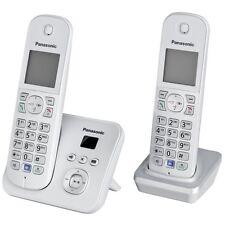 Panasonic KX-TG6822GS Perlsilber DECT Schnurlos-Telefon 2 Mobilteile mit AB